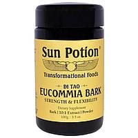 Sun Potion, Порошок Коры Eucommia, Обработка в сыром виде, 3,5 унции (100 г)
