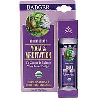 Badger Company, Йога и медитация, кедр и мандарин, 0,60 унции (17 г)