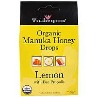 Wedderspoon, Органические леденцы с медом манука, лимон с прополисом, 4 унции (120 г)