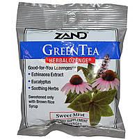 Zand, Зеленый чай, Растительные пастилки, Сладкая мята, 15 пастилок