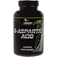 AI Sports Nutrition, D-аспарагиновая кислота, 120 капсул