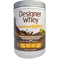 Designer Protein, Дизайнерская молочная сыворотка, премиальный белковый порошок, смесь для выносливости, шоколадный вельвет, 1,5 фунта (680 г)