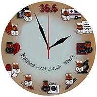 """Настенные часы """"Медицинские часы"""" стеклянные кварцевые, фото 1"""