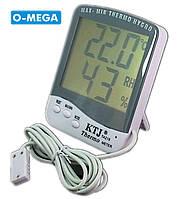 Термогигрометр KTJ Thermo TA218C с выносным проводным датчиком температуры и влажности, фото 1