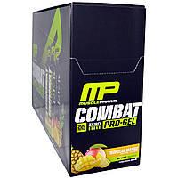 Muscle Pharm, Гель Combat Pro-Gel, тропический манго, 12 пакетов по 1,62 унции (46 г)