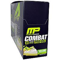 Muscle Pharm, Combat, Pro-Gel, Key Lime, 12 Protein Gels, 1.21 lbs (552 g)
