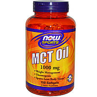 Now Foods, Спортивное питание, Масло МСТ, 1000 мг, 150 гелевых капсул
