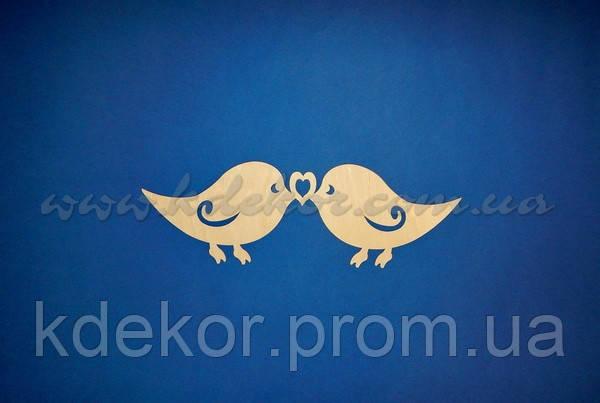Пташки з сердечком (Пташка) заготівля для декупажу та декору