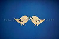 Птички с сердечком заготовка для декупажа и декора