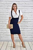 Деловое женское платье большого размера 770327, размер 42, 44, 46, 48, 50, 52, 54, 56, 58, 60.