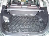 Резиновый коврик в багажник Hyundai Santa FE 06-10 (5 мест) Lada Locer (Локер)