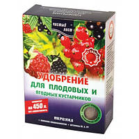 Удобрение Комплексное кристаллическое с микроэлементами  Чистый лист для Плодовых и ягодных кустарников 300 г