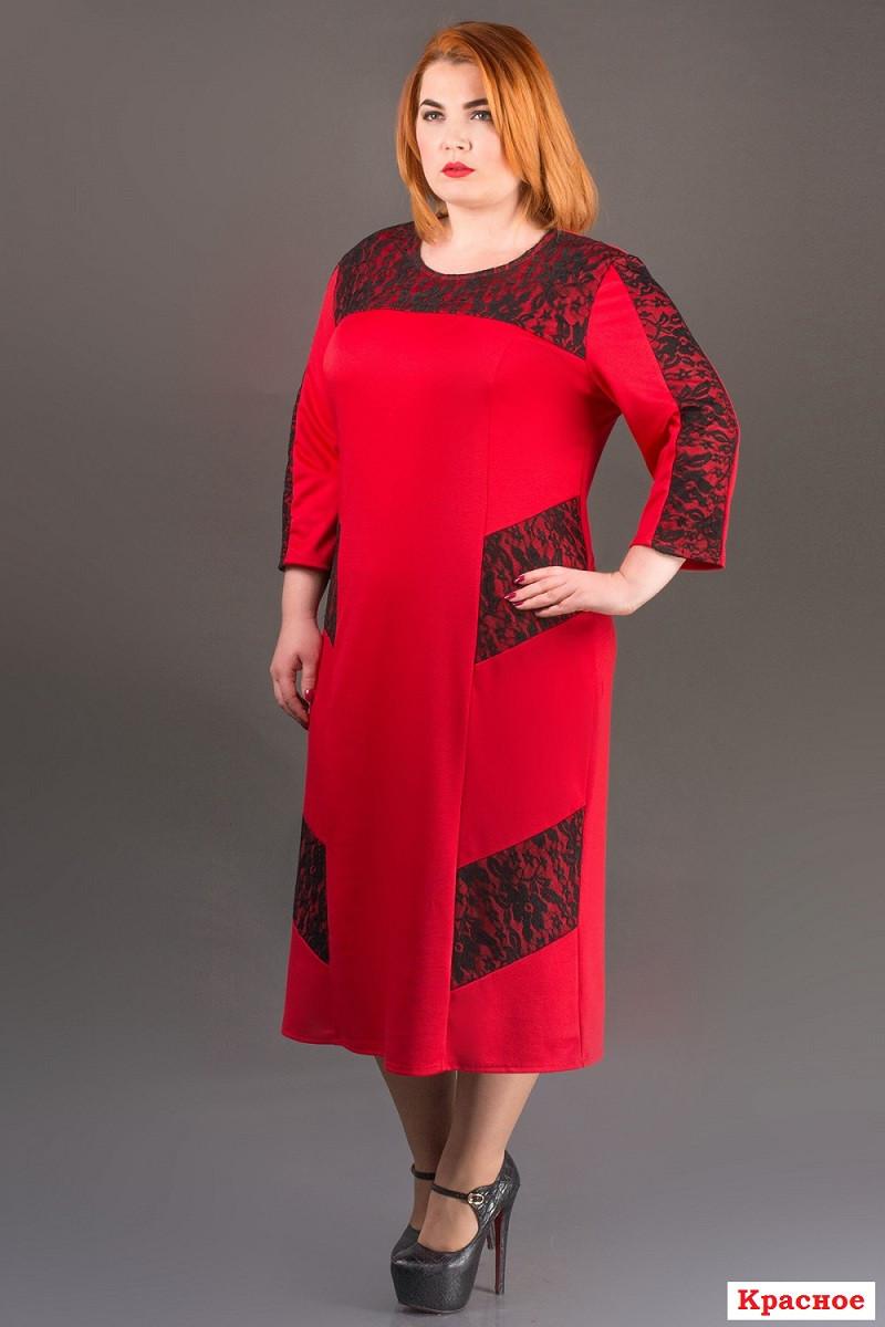купить платье красное размер 54