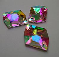 Стразы пришивные Сваровски (копия), Космик 13х17 мм Crystal АВ, стекло