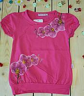Модная футболка на девочку Нежность розового цвета