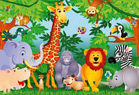 Фотообои  Звери в джунглях 366*254