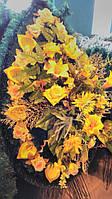 Элитный похоронный дорогой венок №4 желтый