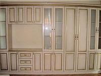 Шкаф-стенка  из массива дерева коллекция «Полесье», фото 1