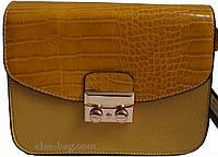 Женская сумочка с клапаном под крокодил