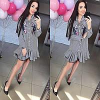Женское необычное платье с рюшами (2 цвета)