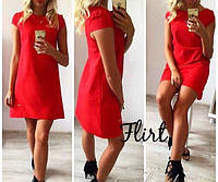"""Легкое летнее платье """"Лия"""", красное"""