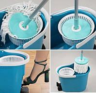 Швабра Гривна Петровна, быстрая и эффективная уборка, швабра с отжимом, 2 насадки из микрофибры