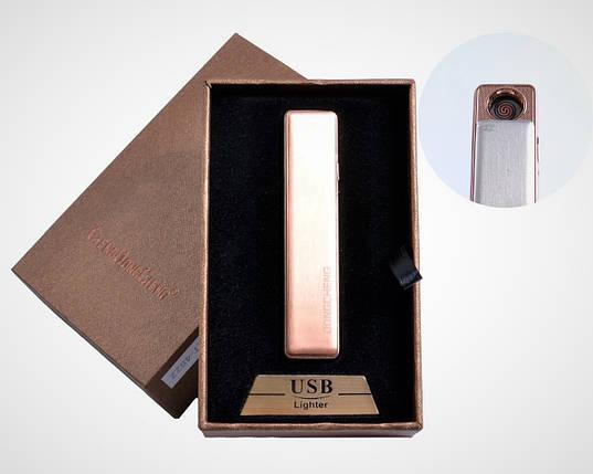 """Спиральная USB-зажигалка """"DongCheng"""" №4822-4, оранжевая, в подарочной упаковке, практичное приобретение, фото 2"""