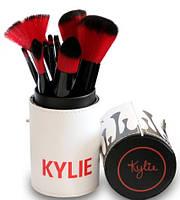 Профессиональный набор кистей для макияжа Kylie Jenner 12 шт. белый