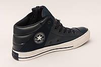 Кеды Converse  All Star синие высокие кожанные