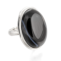 Оникс, серебро 925, кольцо, 434КО