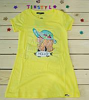 Модная  футболка -туника Шляпка   на девочку     рост 110-128