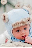 "Зимняя шапка ушанка и шарф ""Доги"""