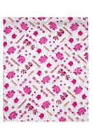 Пеленка 115*100 из фланели, цвета: розовый, голубой