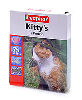 Kitty's + Protein витаминизированные лакомства с протеином и рыбой для кошек Beaphar
