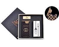 """Электроимпульсная USB зажигалка """"Gucci"""" №4767-1, нано технологии, эффект шаровой молнии, отличный подарок"""