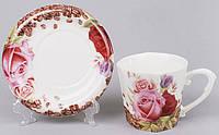 "Чайная пара ""Сoffee&Roses-II"" чашка 220мл с блюдцем"