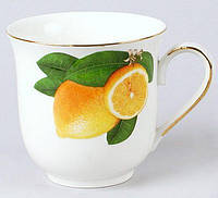 "Кружка ""Лимон"" 320мл, фарфор"