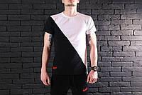 Мужская футболка Pobedov T-shirt segmentation 🔥 (Победов) Black-White V1