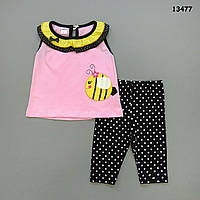 "Летний костюм ""Пчёлка"" для девочки. 1, 2, 3 года"