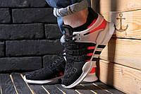 Мужские кроссовки Adidas Equipment Support ADV  🔥 (Адидас Еквипмент EQT) Black-White