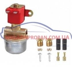 ГБО Клапан газа Atiker под трубку 6 мм