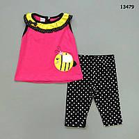 "Летний костюм ""Пчёлка"" для девочки. 1, 3, 4 года, фото 1"