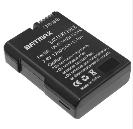 Аккумулятор Nikon EN-EL14 (BATMAX) 1200mAh