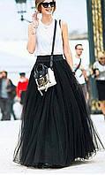 Пышная юбка фатин на подкладке 42-46р цвет бежевый