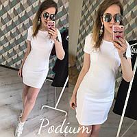 Короткое летнее белое платье