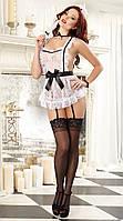 Кружевной костюм горничной / Эротическое белье / Сексуальное белье / Еротична сексуальна білизна, фото 1