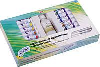 Подарочный набор акриловых красок ЛАДОГА 12цв. 18мл. +2 кисти+лак, фото 1
