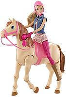 Набор Барби и лошадь Верховая езда CMP27 Barbie Saddle 'N Ride Horse