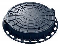 Люк пластиковый Садовый, черный, вес 10кг, нагрузка 0,5т, (шт)