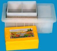 Форма трехкамерная для твердого сыра от 2 кг
